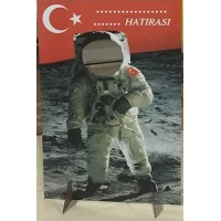 Ahşap Hatıra Astronot